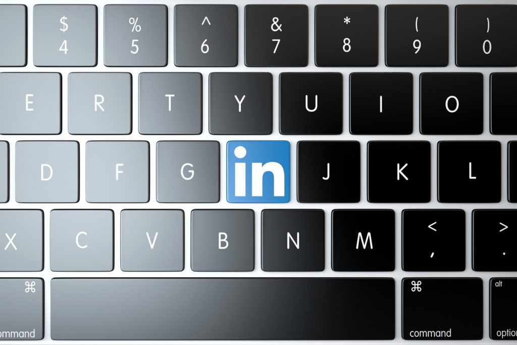 LinkedIn-icon-on-laptop-keyboard.-Technology-concept-18742
